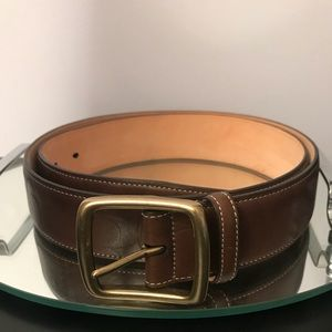 Coach Womens Brown Leather Monogram Belt Sz 38